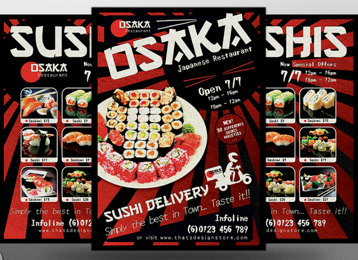 sushi-delivery-and-takeaway-flyer-template