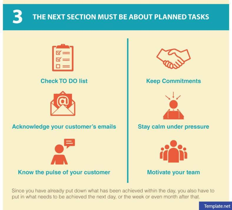 The next section must be about planned tasks