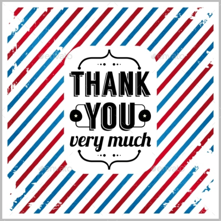 tricolor grunge restaurant thank you card template