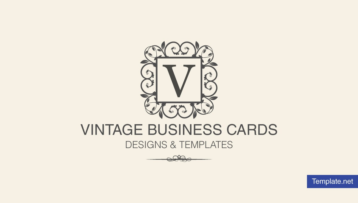 vintage business card designs templates