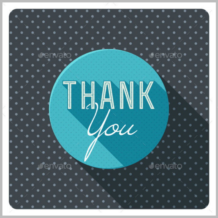 vintage thank you card template set
