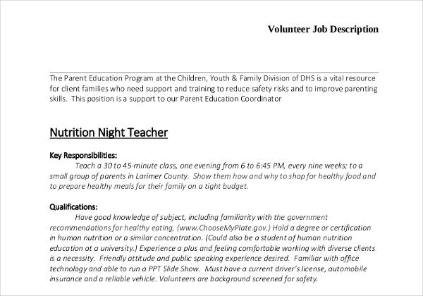 Job description templates 32 free word excel pdf free larimer pronofoot35fo Gallery