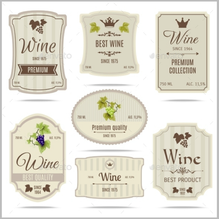 wine-bar-restaurant-labels-tag-template