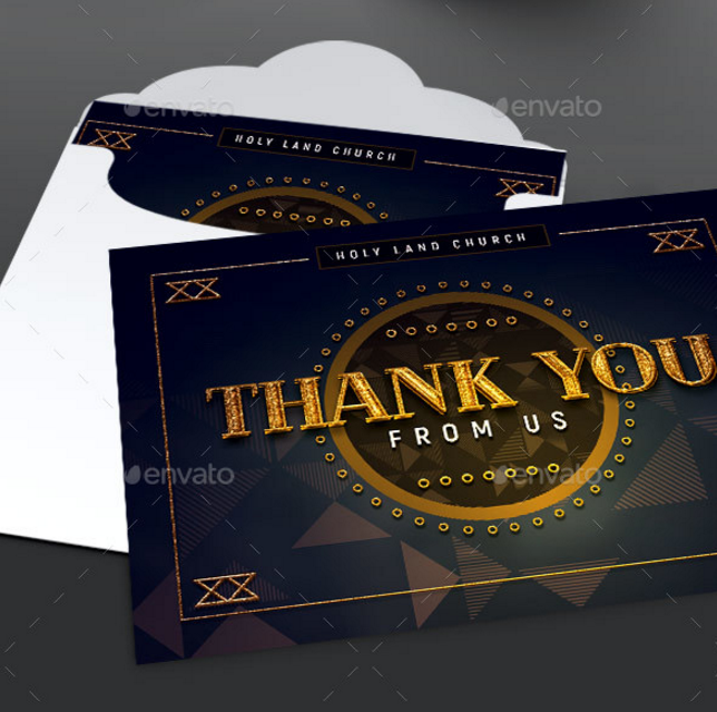 art deco gala thank you note card