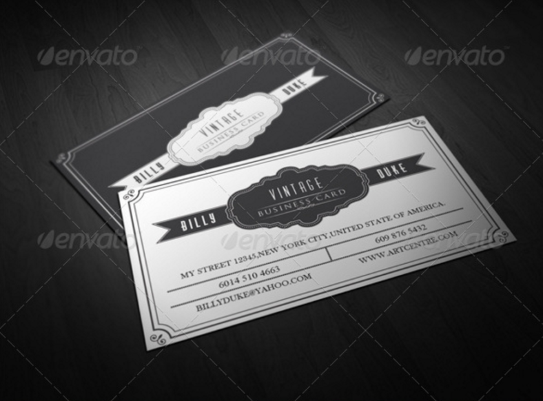 black-and-white-vintage-business-card