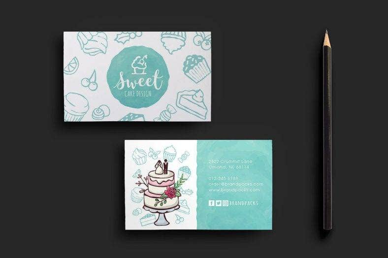 17 bakery business card designs templates psd ai indesign cake shop business card template fbccfo Choice Image