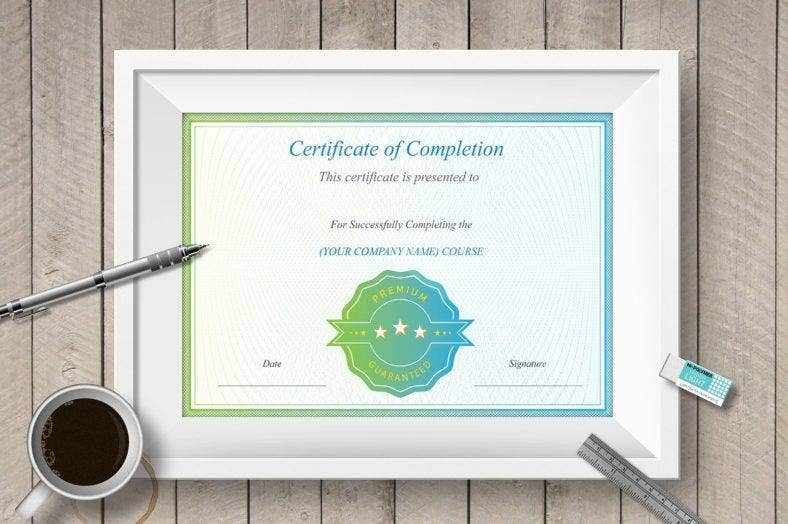 clean-course-completion-certificate