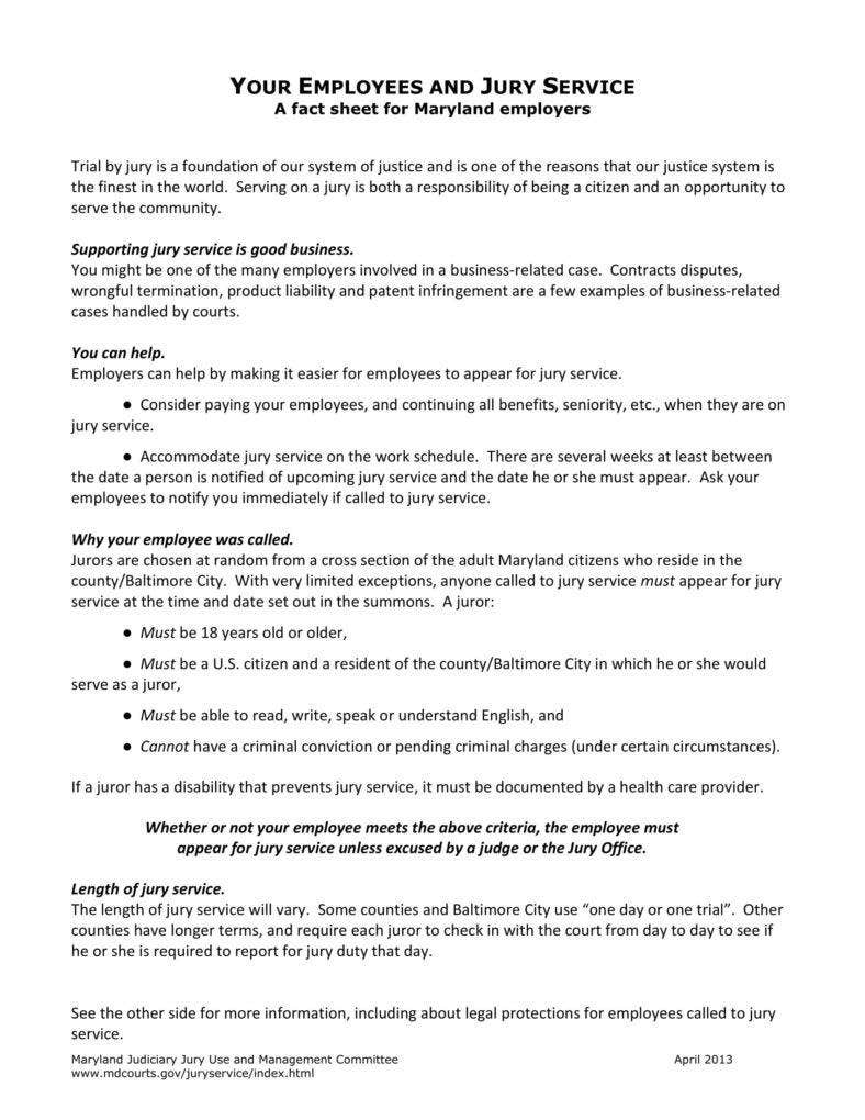 13  jury duty policy templates and leave guide