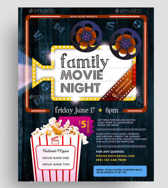 Word movie poster template