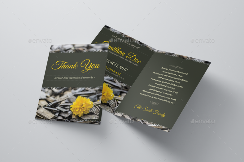 funeral program thank you note card 788x525