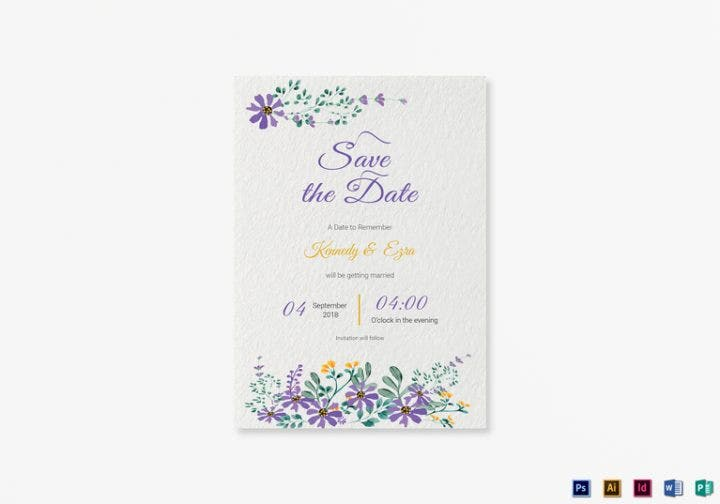 14 wedding announcement card designs templates psd for Publisher save the date templates