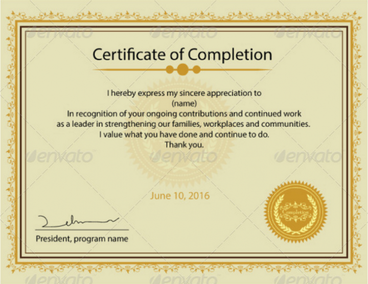 19  course completion certificate designs  u0026 templates
