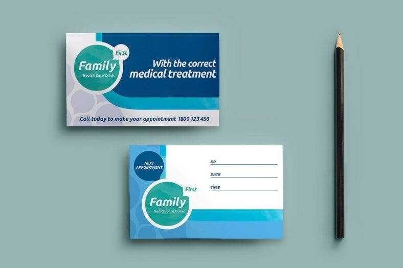 health care clinic appointment card  788x524
