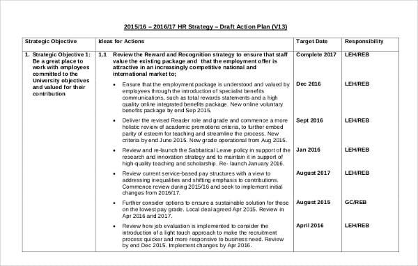 hr strategic action plan