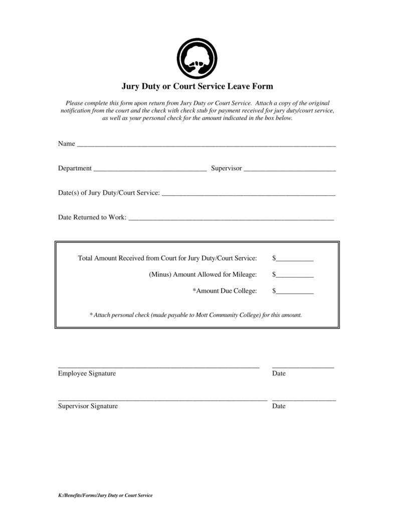 Jury Duty Letter Of Excuse From Employer Sample from images.template.net
