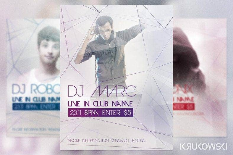 live-dj-club-flyer