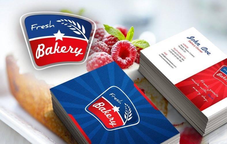 modern bakery business card 788x500