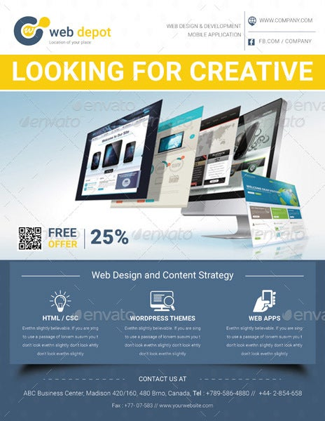 Beautiful Multipurpose Web Design Flyer