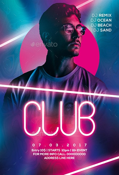 neon-lights-club-flyer