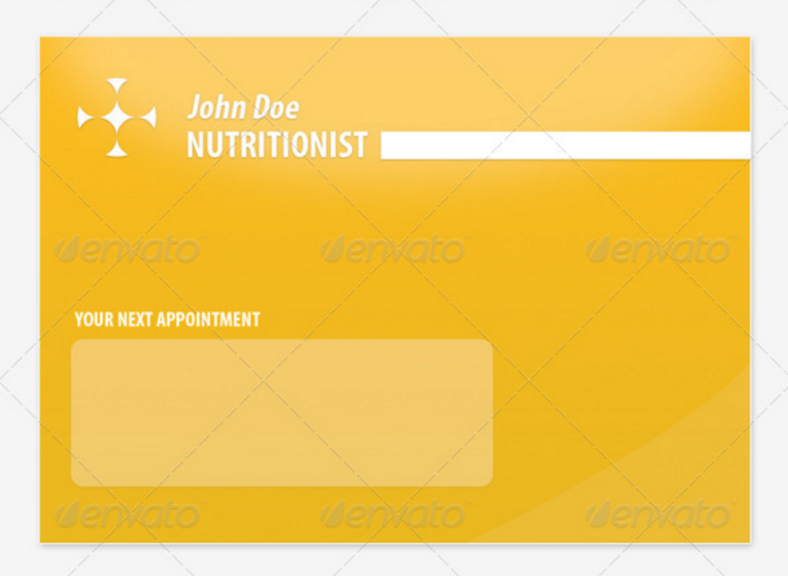 nutritionist appointment card 788x576