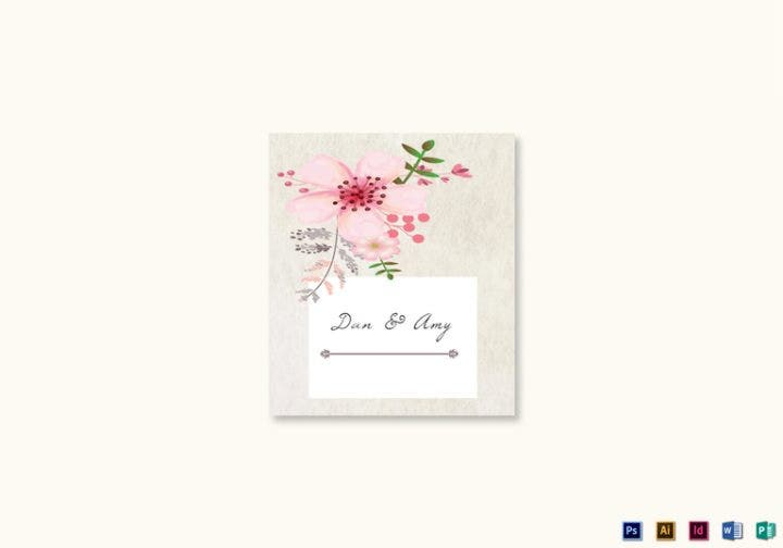 pink floral wedding place card 767x537 e1515660252128
