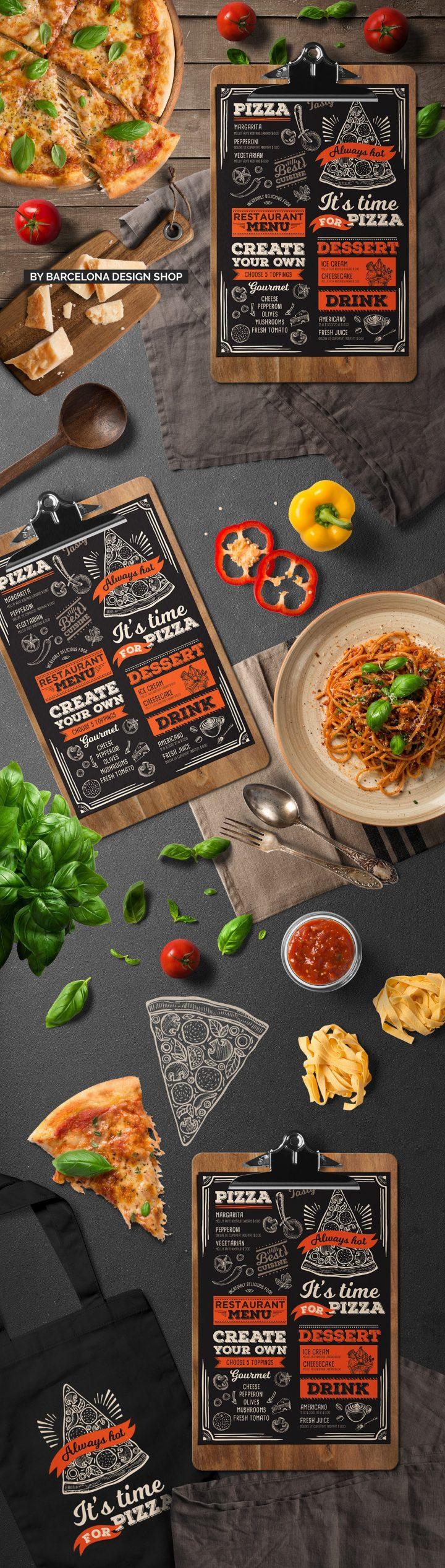 Italian menu designs templates psd ai free
