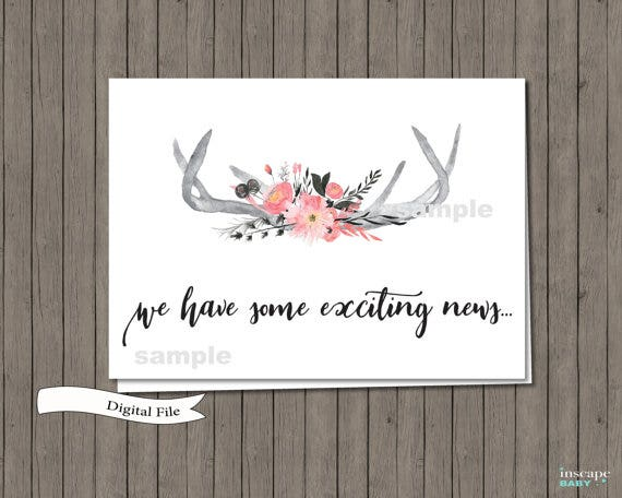 14  pregnancy announcement card designs  u0026 templates