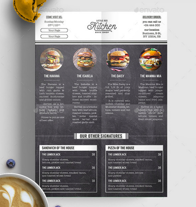 15 burger menu designs templates psd indesign illustrator free premium templates. Black Bedroom Furniture Sets. Home Design Ideas