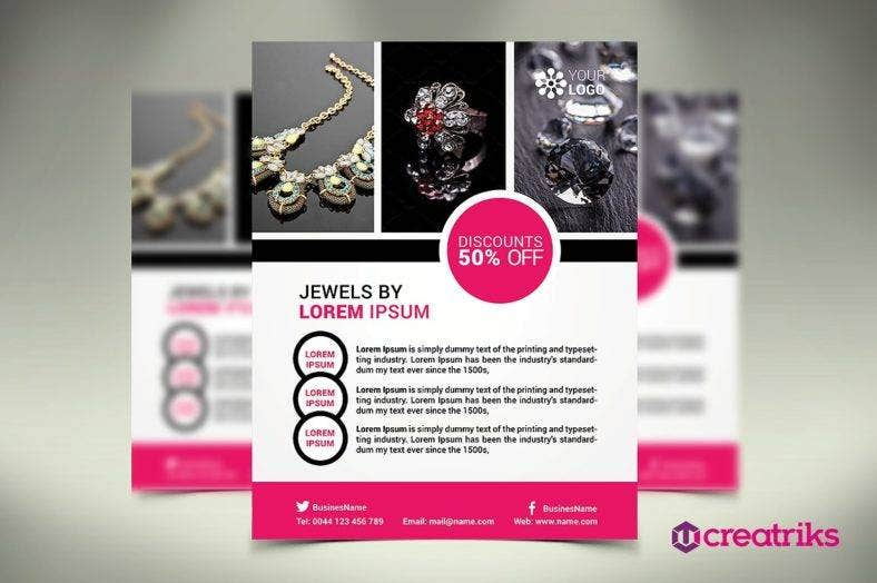 15  jewellery flyer designs and templates