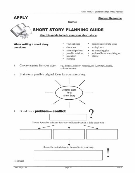 3  short story outline templates