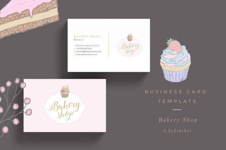 simple bakery business card - Bakery Business Cards