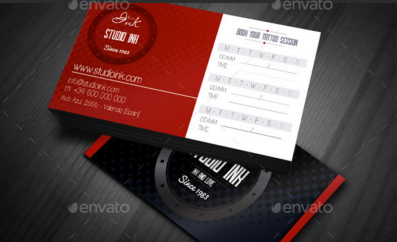tattoo artist appointment card 788x481