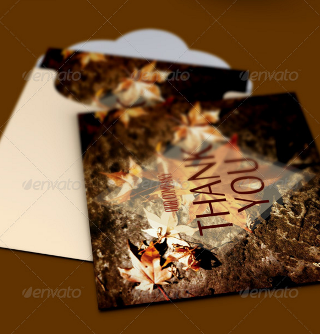 thanksgiving thank you note card