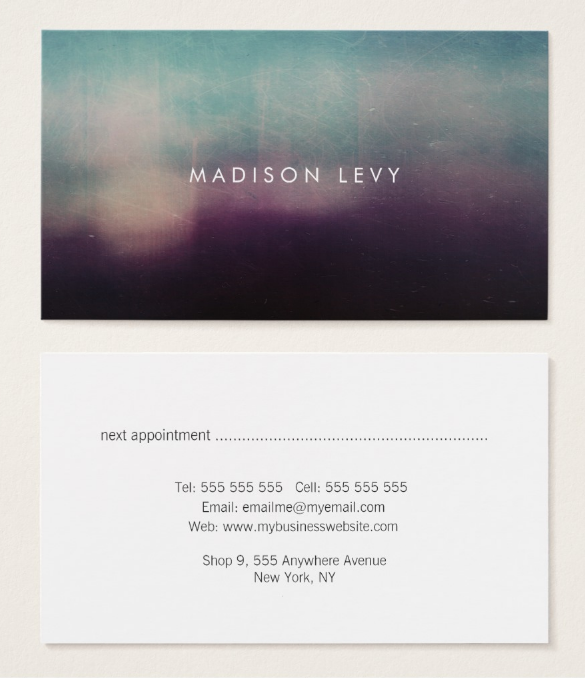 turquoise-appointment-card