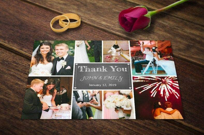 wedding thank you card template psd photoshop  788x524