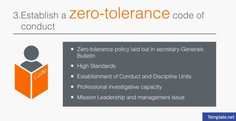 zero-tolerance code of conduct