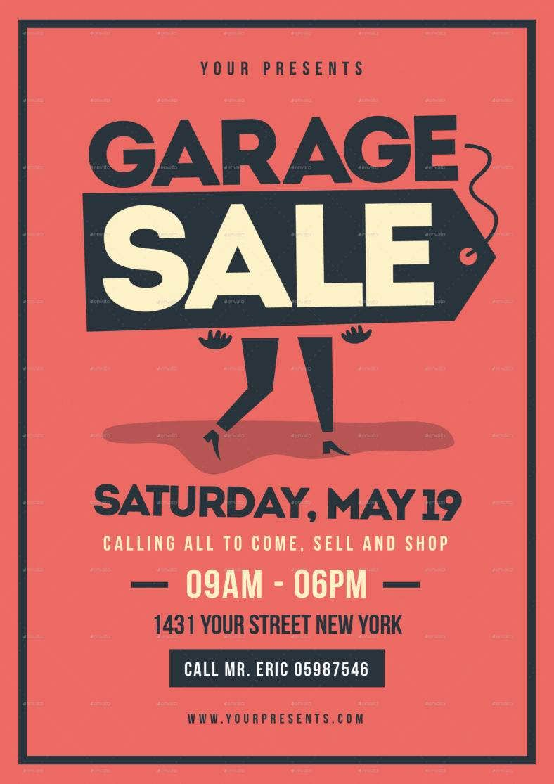 rummage sale flyer template