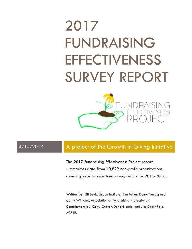 2017 Fundraising Survey Report