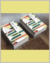 3d-business-card-with-colored-stripes