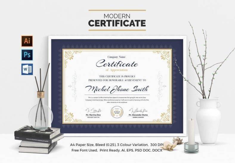 A4 School Certificate