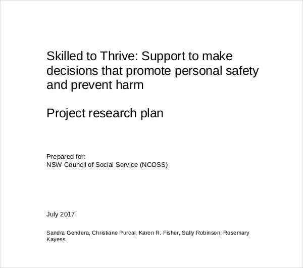 action research project plan