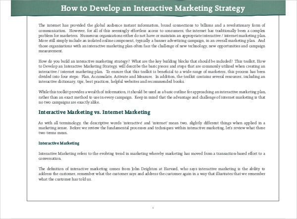 affiliate interactive marketing strategy