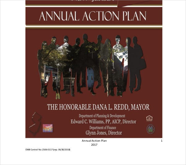 annual action plan example