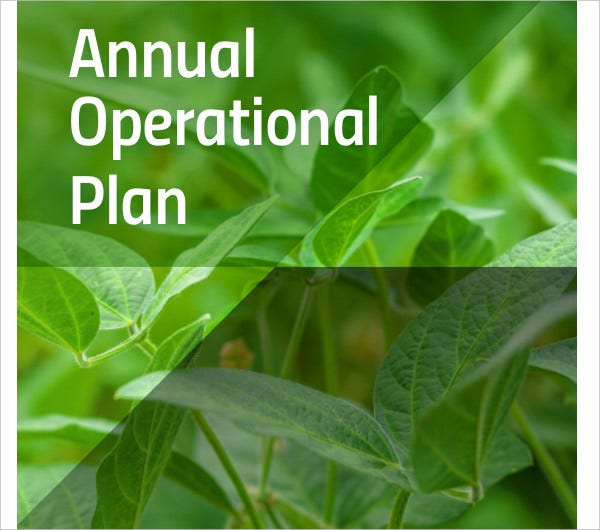 annual operational plan for plant health