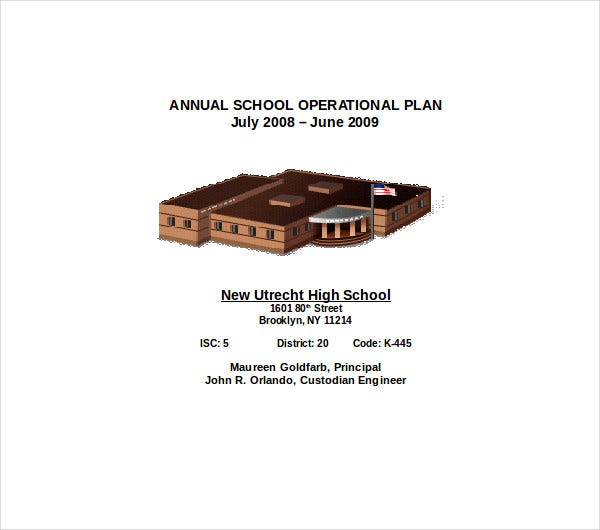 annual school operational plan