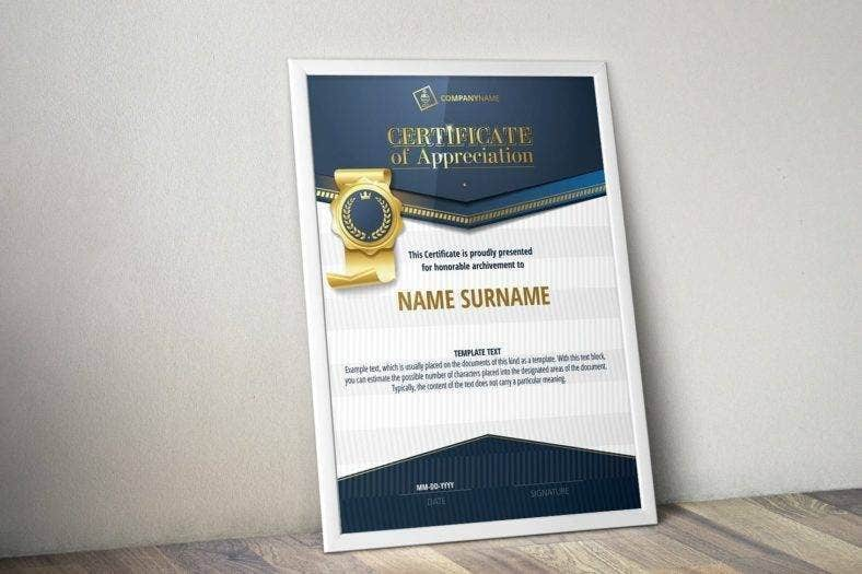 appreciation certificate templates 788x525