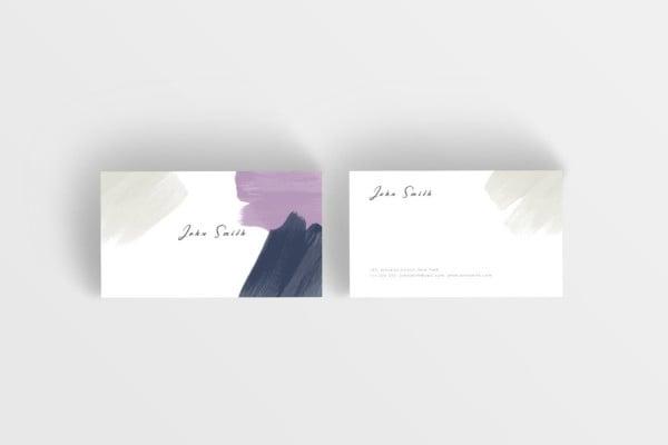 artist paint strokes business card