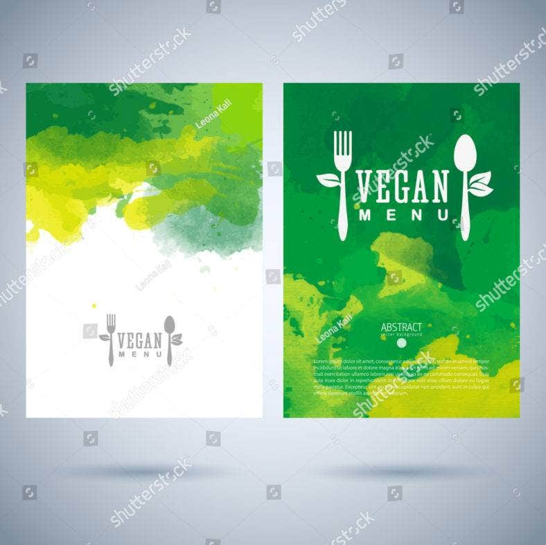 Artistic Vegetarian Menu Template