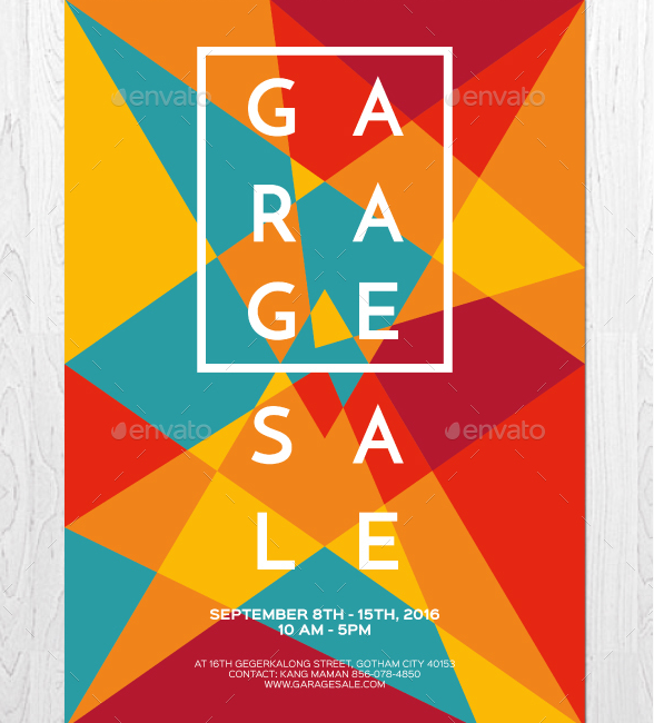 artsy garage sale flyer