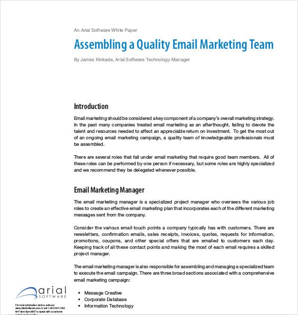 assembling quality email marketing team